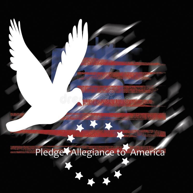 Преданность обещания к Америке иллюстрация вектора