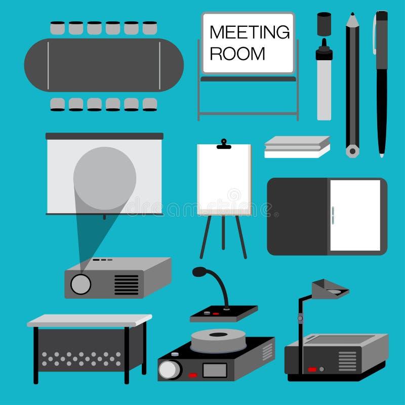 предводительствует таблицу конференц-зала конференции бесплатная иллюстрация