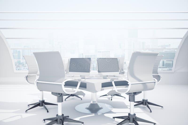 предводительствует таблицу конференц-зала конференции иллюстрация штока