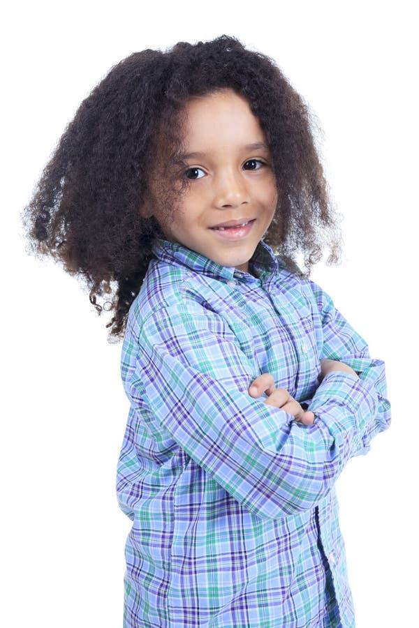 Прелестный африканский мальчик с красивым стоковые фотографии rf