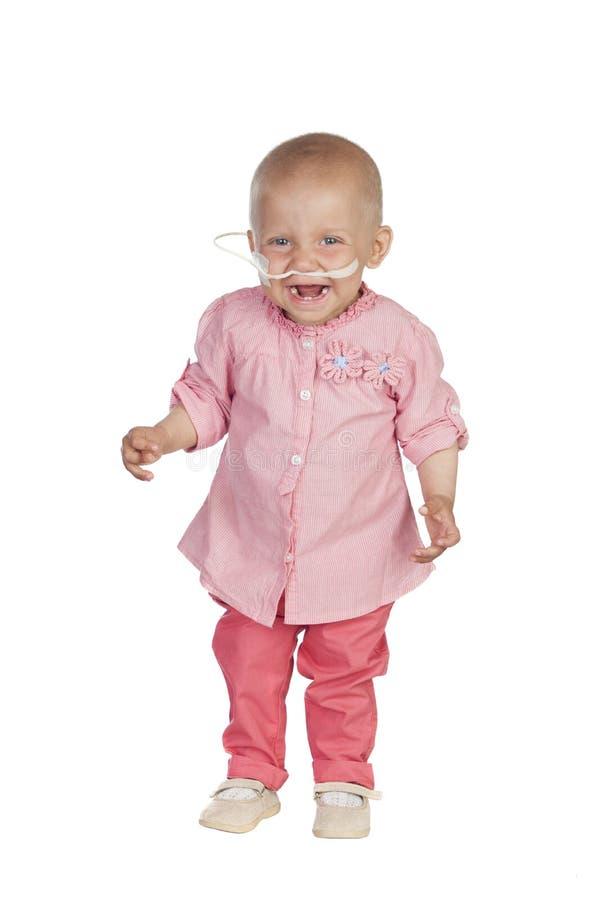 Прелестный младенец бить заболевание стоковое фото rf