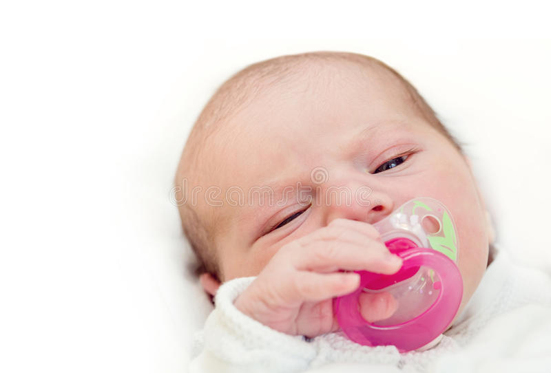 Download прелестный Pacifier младенца Стоковое Изображение - изображение насчитывающей младенец, closeup: 40591931