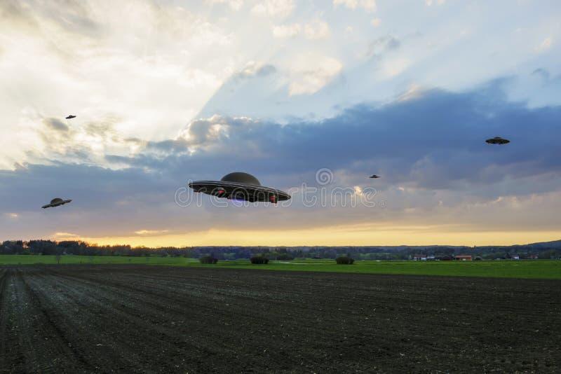 предмет летания неопознанный стоковые фотографии rf
