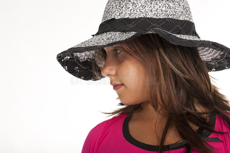 Предназначенный для подростков с студией шляпы стоковое изображение