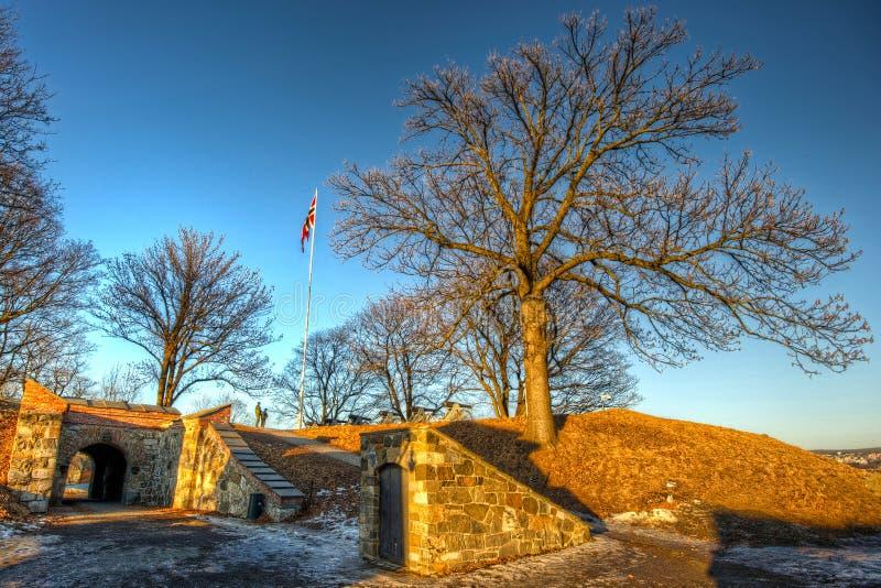 Предохранители на крепости Akershus стоковое изображение