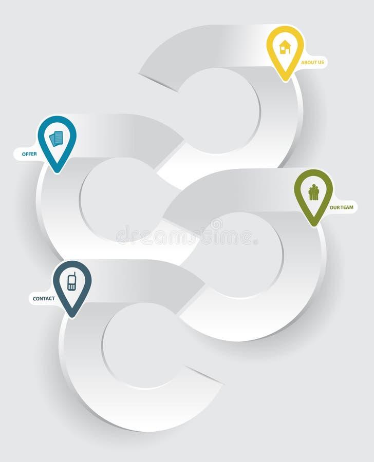 Предпосылка абстрактного современного вектора infographic для компании иллюстрация вектора