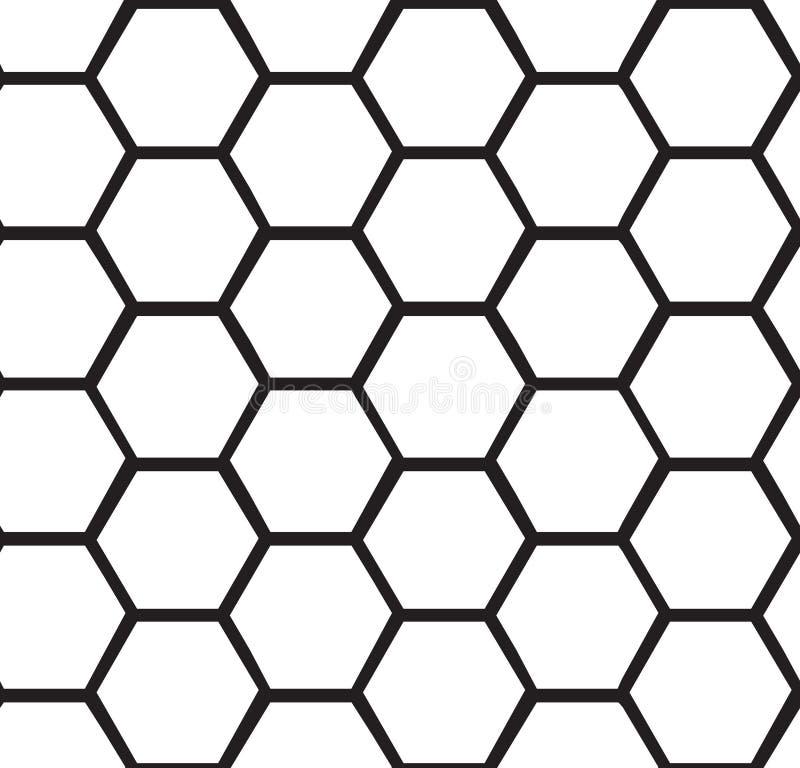 Предпосылка абстрактного сота безшовная иллюстрация вектора