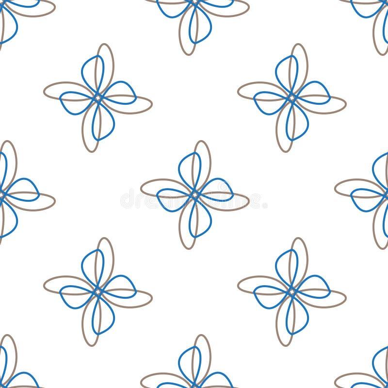 Предпосылка абстрактного цветка белая безшовная бесплатная иллюстрация