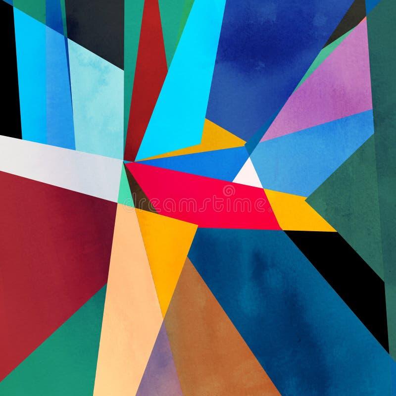 Предпосылка абстрактной акварели геометрическая стоковые изображения rf