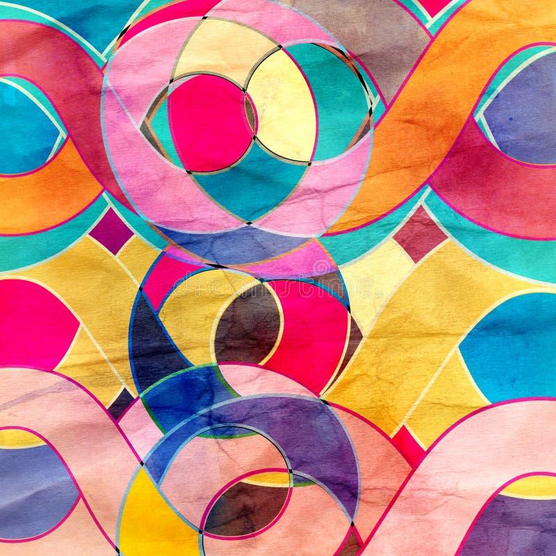 Предпосылка абстрактной акварели ретро бесплатная иллюстрация