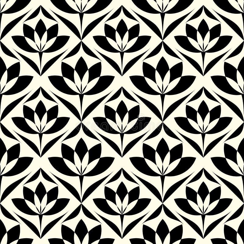 Предпосылка абстрактной картины обоев сбора винограда геометрической безшовная иллюстрация вектора