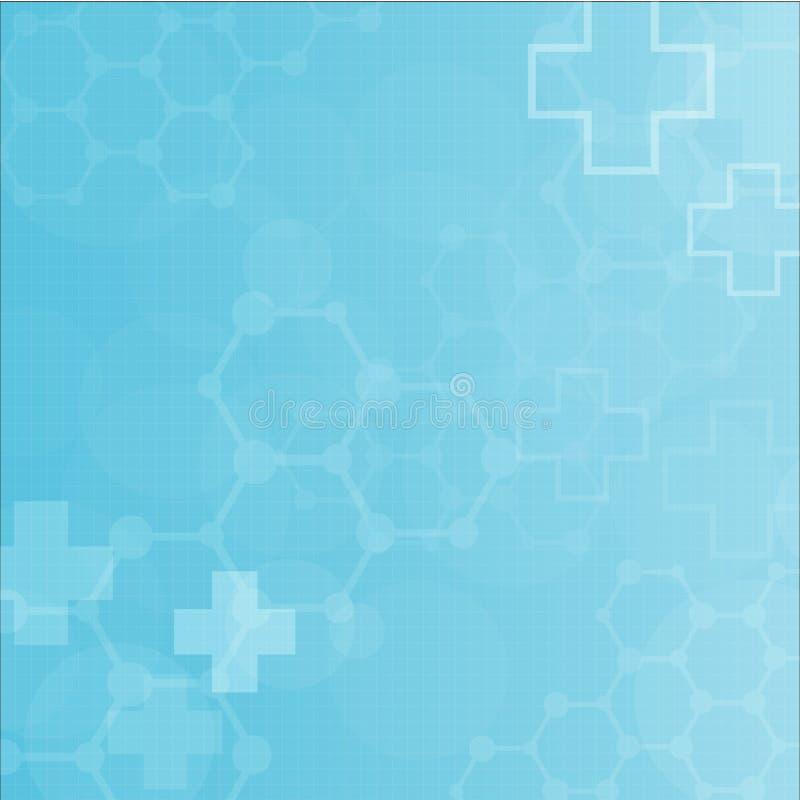 Предпосылка абстрактных молекул медицинская бесплатная иллюстрация