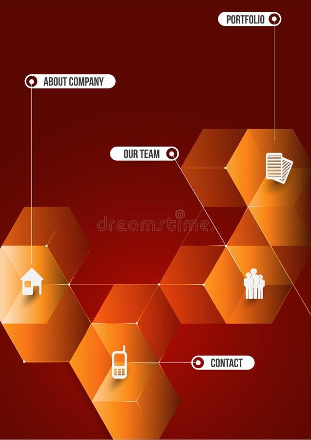 Предпосылка абстракции кубическая информативная для компаний иллюстрация вектора