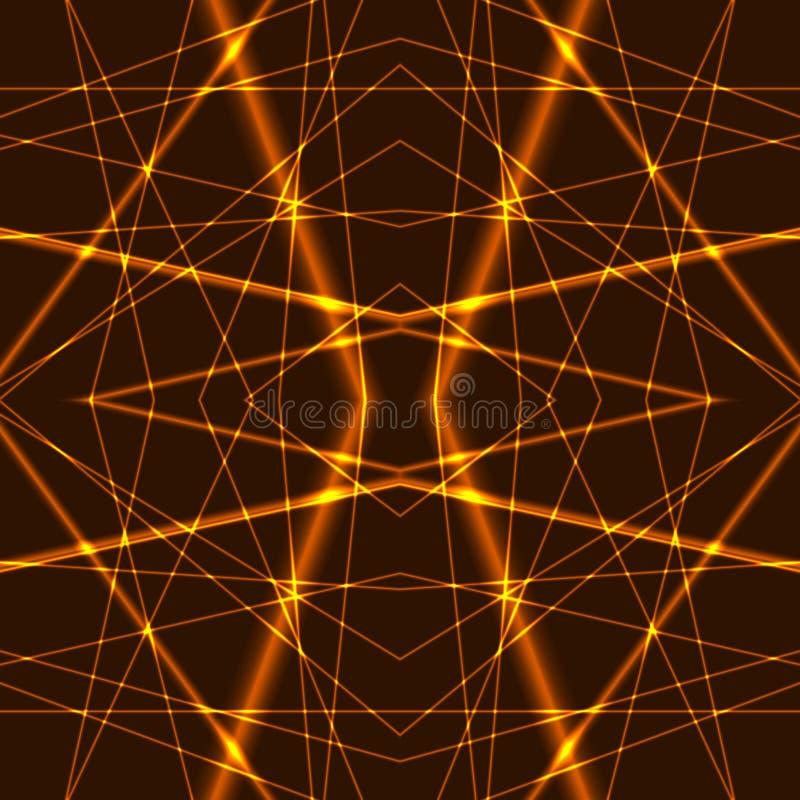 Предпосылка лазерных лучей золота безшовная иллюстрация штока