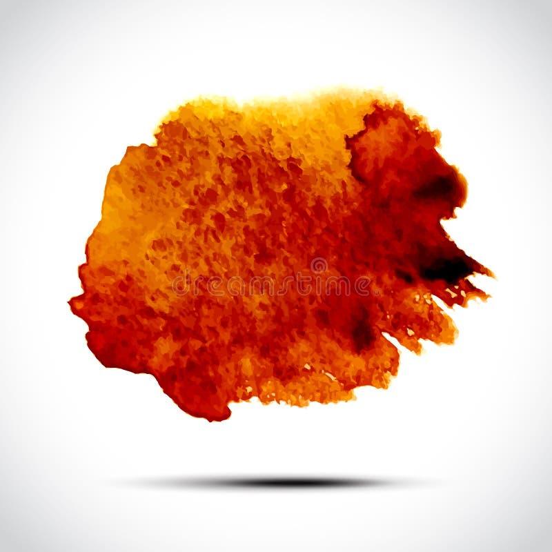 Предпосылка акварели вектора абстрактная Оранжевый иллюстрация штока