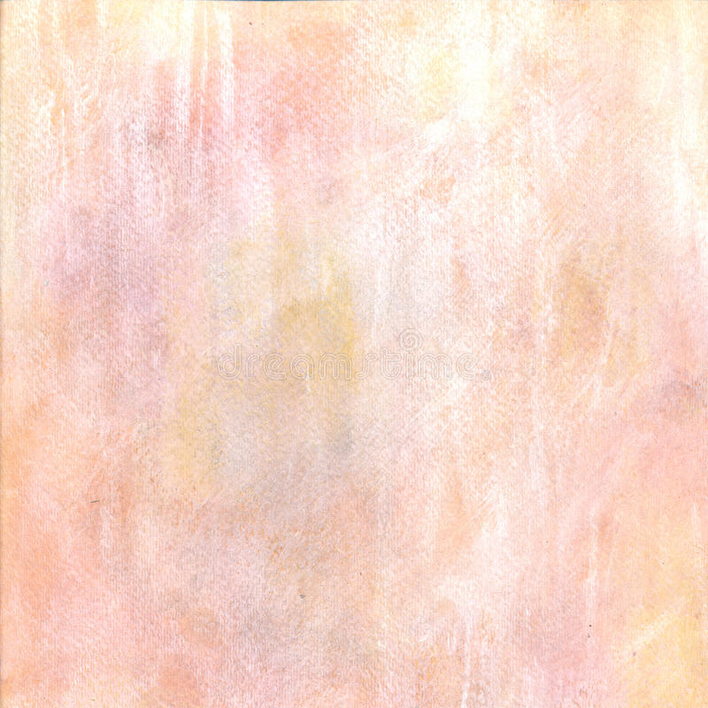 Предпосылка акварели желтого цвета пастельного пинка иллюстрация вектора