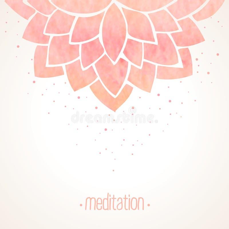 Предпосылка акварели розовая флористическая иллюстрация штока