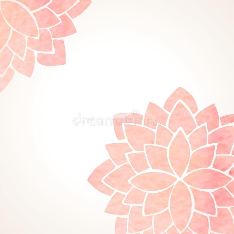 Предпосылка акварели розовая флористическая бесплатная иллюстрация