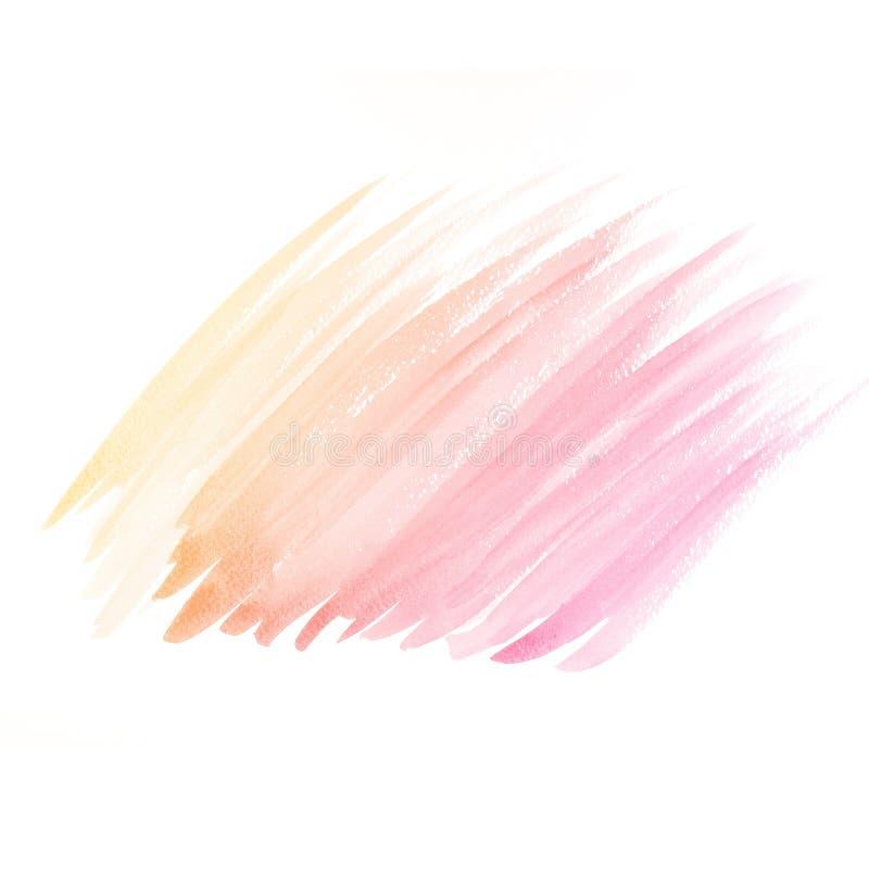 Предпосылка акварели. цветастый желтый розовый цвет воды иллюстрация штока