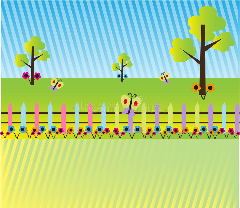 Предпосылка ландшафта шаржа бесплатная иллюстрация