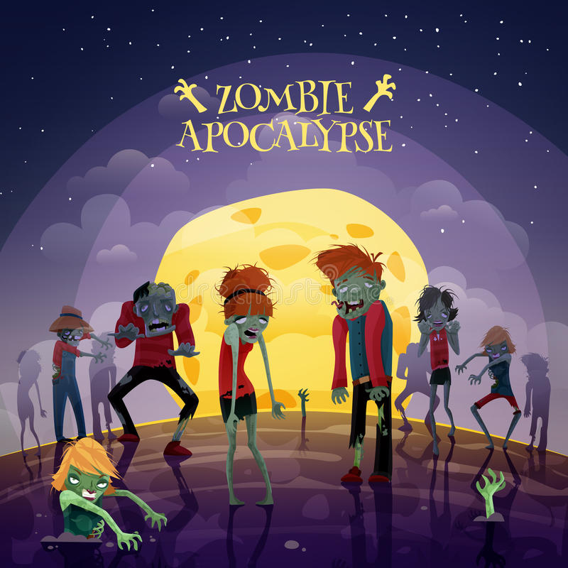 Предпосылка апокалипсиса зомби бесплатная иллюстрация