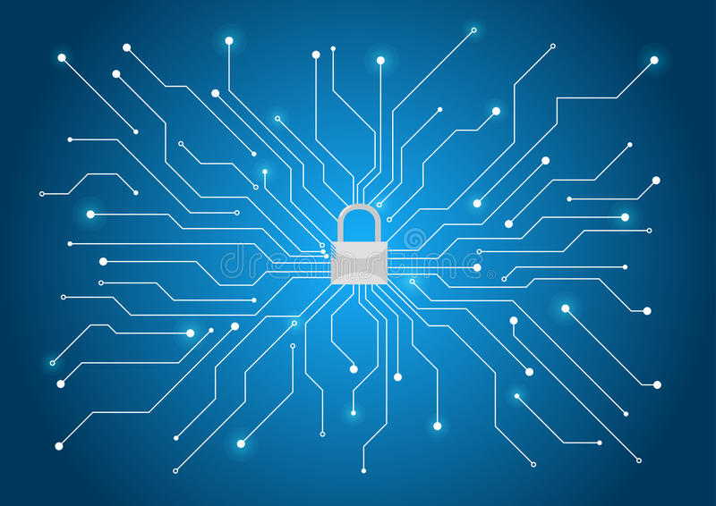 Предпосылка безопасностью кибер стоковое изображение