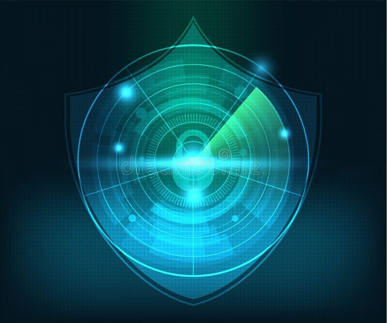 Предпосылка безопасностью сети абстрактной технологии иллюстрация вектора