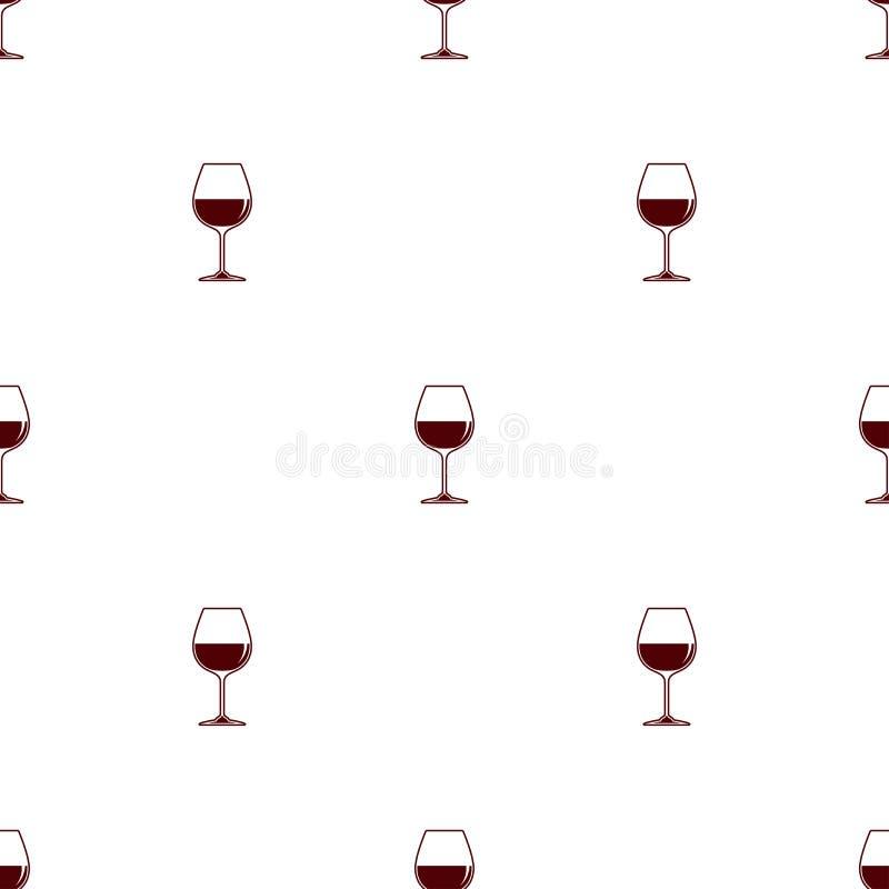 Предпосылка безшовного вектора картины минималистская с вином рюмки красным иллюстрация штока