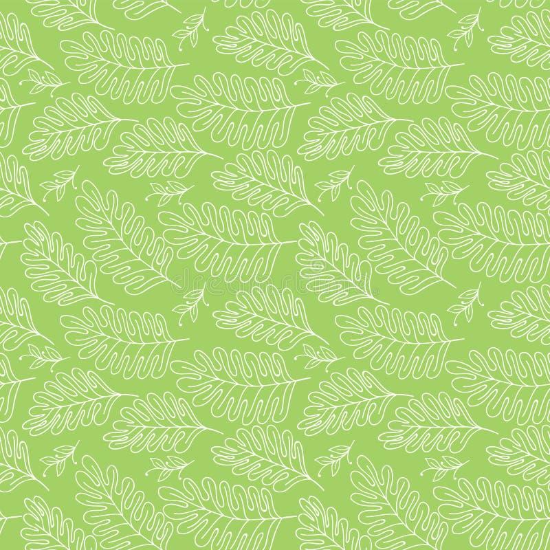 Предпосылка безшовного вектора картины флористическая при нарисованная рука разветвляет для ткани, упаковочной бумаги, книги etc  иллюстрация штока