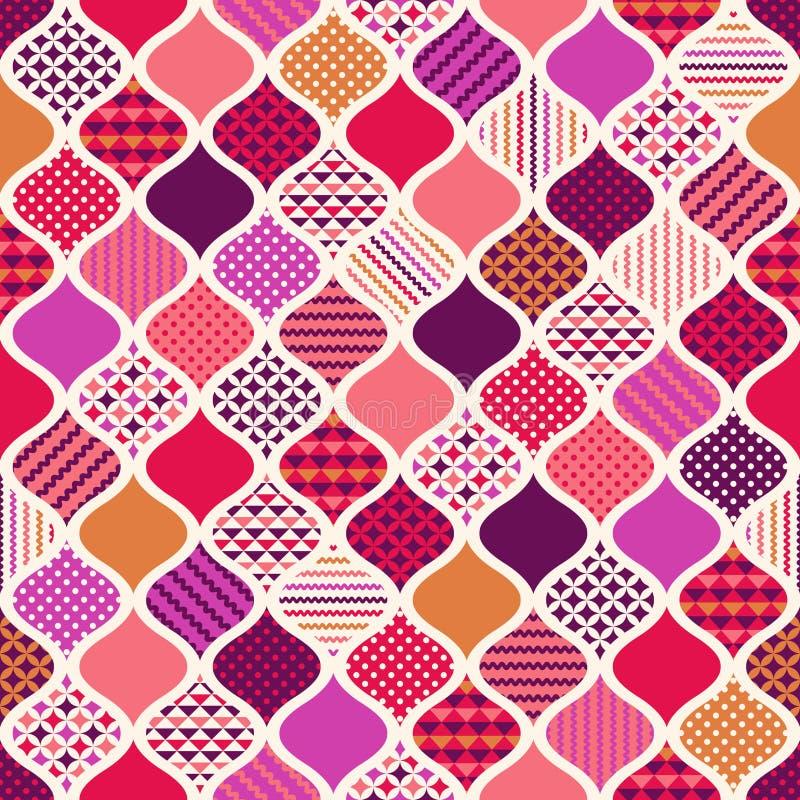 Предпосылка безшовного орнамента геометрическая бесплатная иллюстрация