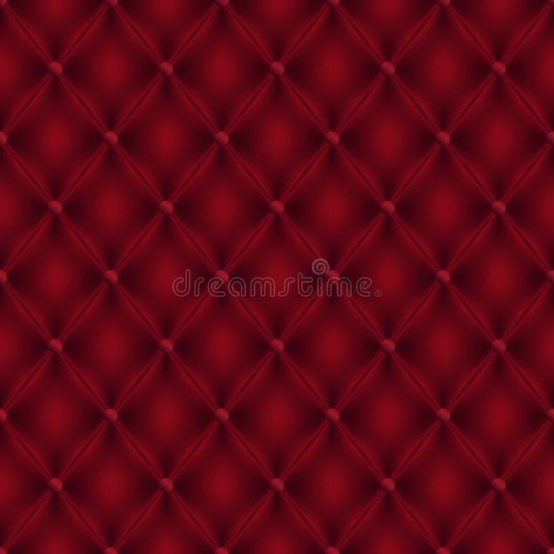 Предпосылка безшовного стиля будуара вектора красная кожаная иллюстрация вектора