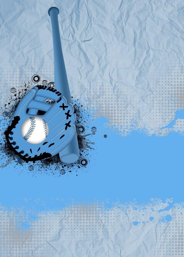 Предпосылка бейсбола иллюстрация вектора