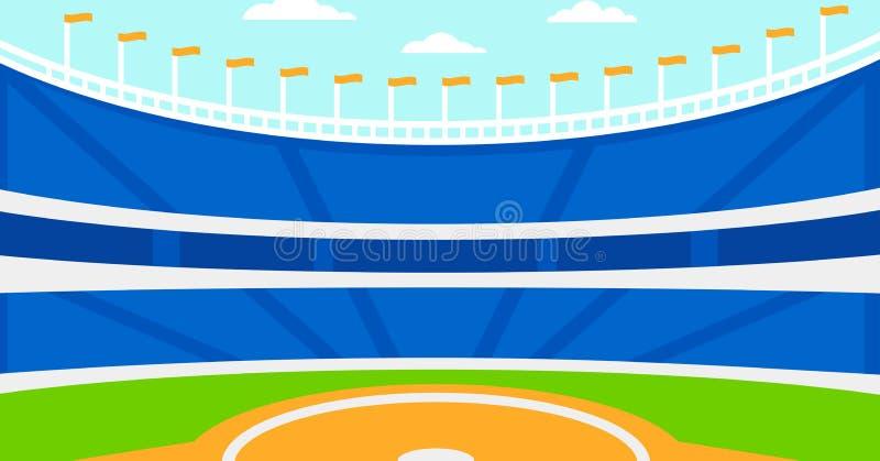 Предпосылка бейсбольного стадиона иллюстрация вектора