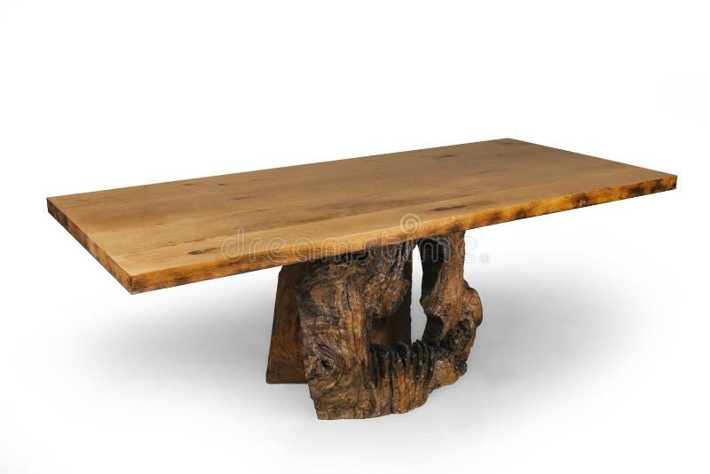 Предпосылка белизны деревянного стола стоковые фотографии rf