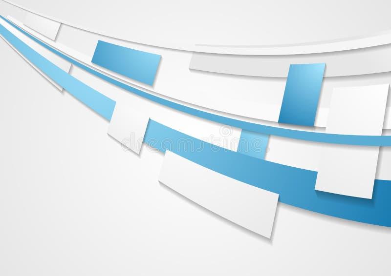 Предпосылка брошюры техника движения голубого серого цвета корпоративная иллюстрация штока