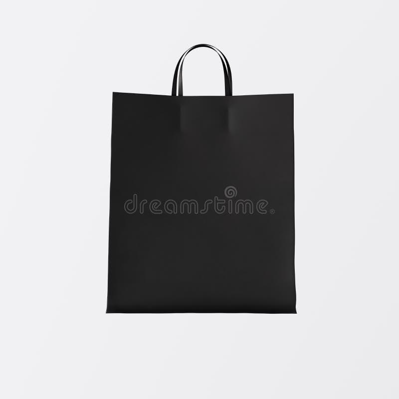 Предпосылка бумажной сумки крупного плана черная изолированная разбивочная белая пустая Материалы текстуры модель-макета сильно д стоковые фотографии rf