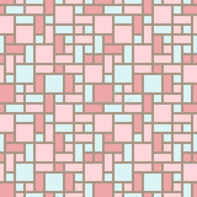 Предпосылка вектора абстрактная - винтажное безшовное floo иллюстрация вектора
