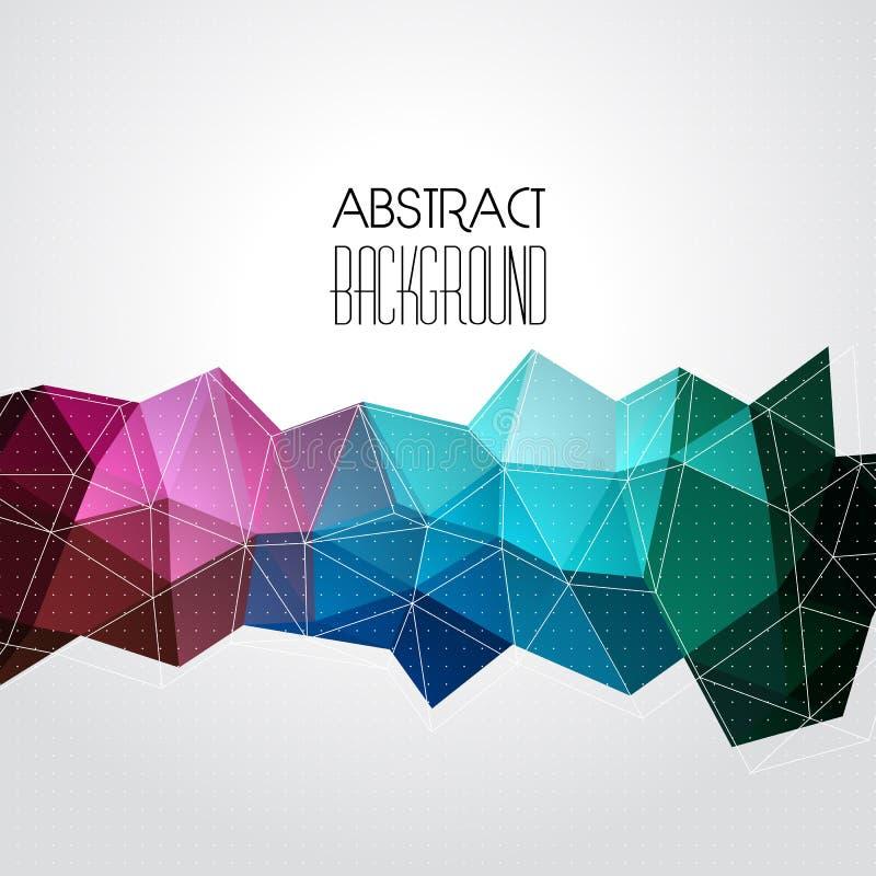 Предпосылка вектора абстрактная геометрическая с треугольником иллюстрация штока