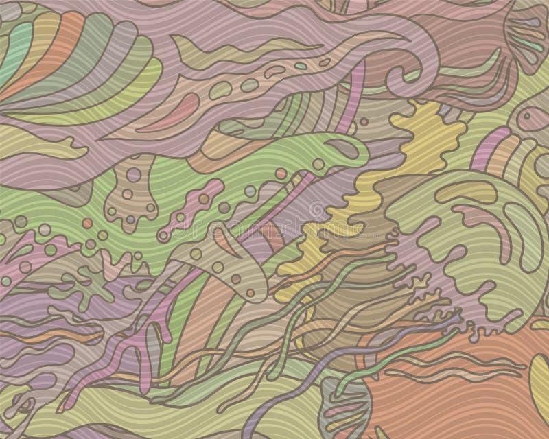 Предпосылка вектора абстрактная с подводным миром иллюстрация вектора