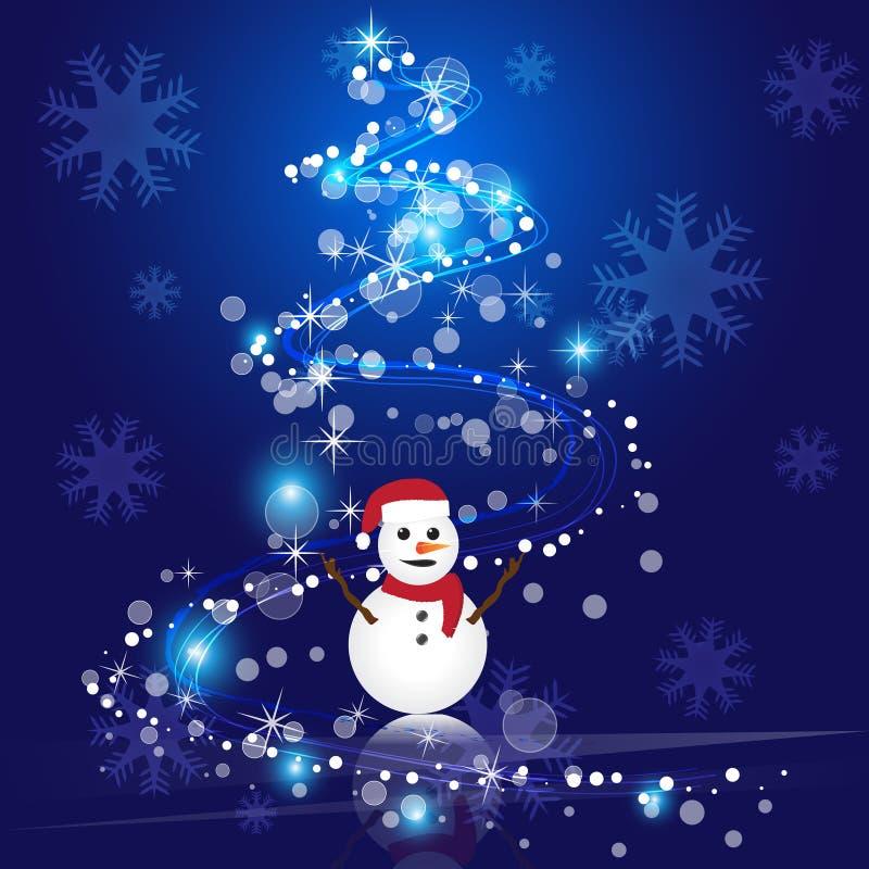 Download Предпосылка вектора абстрактного рождества голубая Иллюстрация вектора - иллюстрации насчитывающей navy, снежок: 81812237