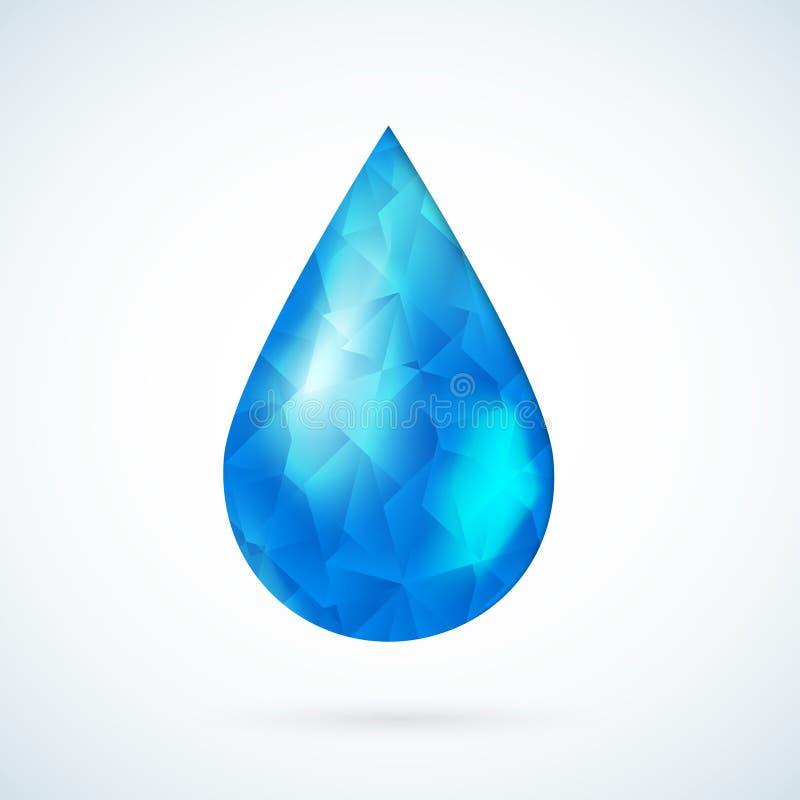 Предпосылка вектора голубой дождевой капли геометрическая стоковые фотографии rf