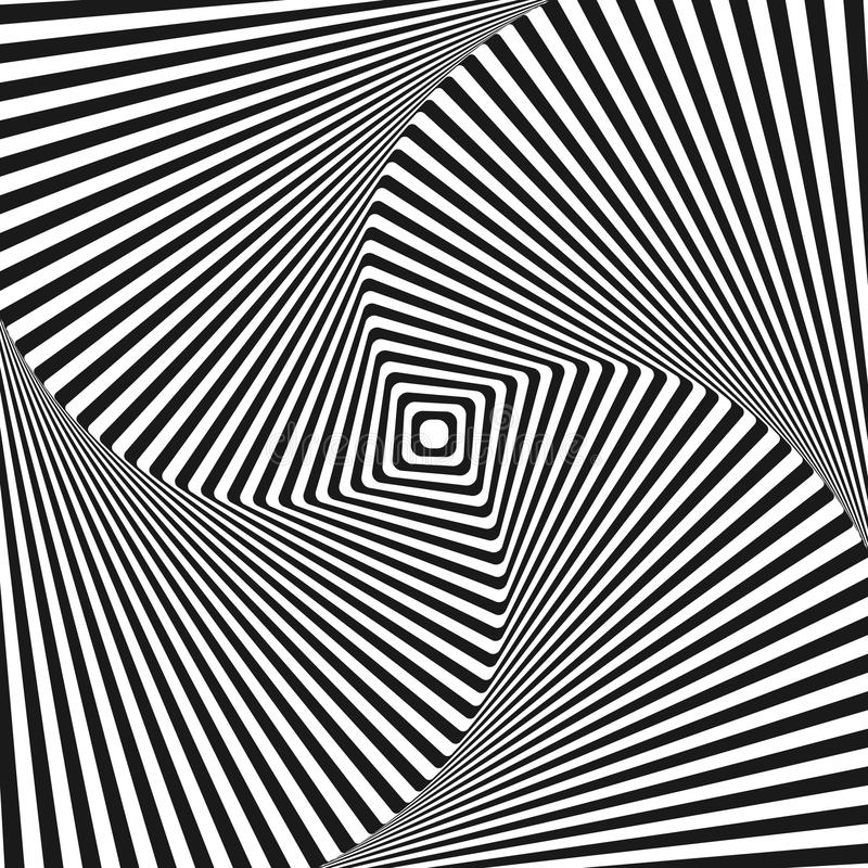 Предпосылка вектора квадрата искусства обмана зрения иллюстрация штока
