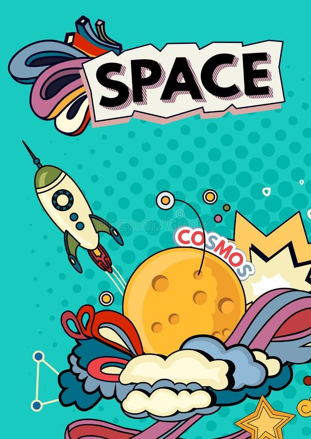 Предпосылка вектора космоса бесплатная иллюстрация