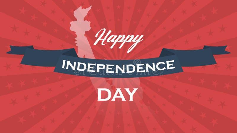 Предпосылка вектора на День независимости США бесплатная иллюстрация