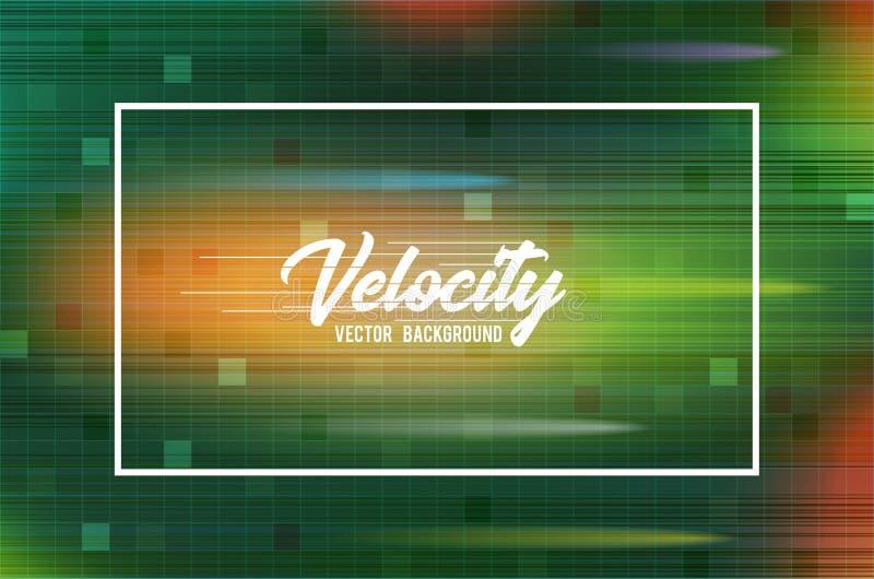 Предпосылка 03 вектора скорости Предпосылка быстрого хода и концепции абстрактной технологии Высок-техника бесплатная иллюстрация