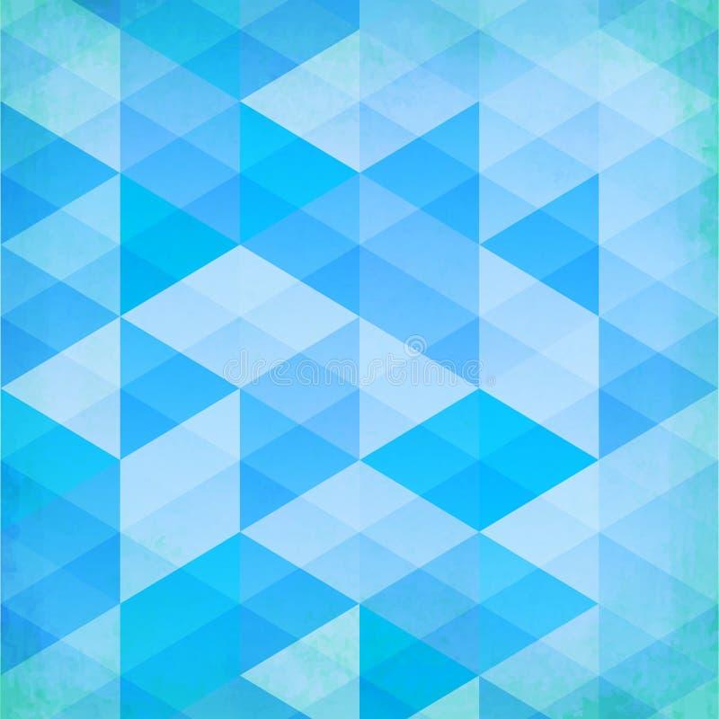 Предпосылка вектора треугольников абстрактного grunge голубая бесплатная иллюстрация