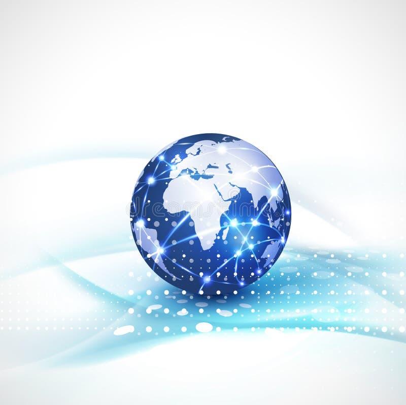 Предпосылка, вектор & иллюстрация подачи связи системы мира и движения концепции технологии иллюстрация вектора