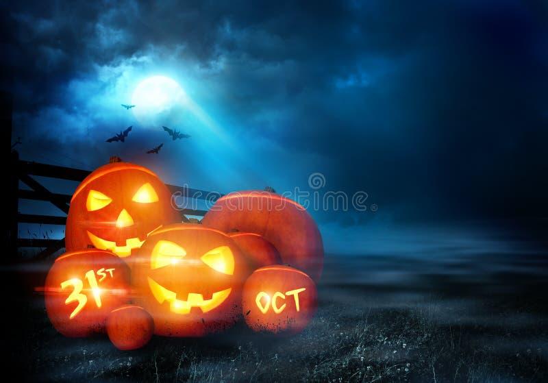 Предпосылка вечера хеллоуина иллюстрация штока