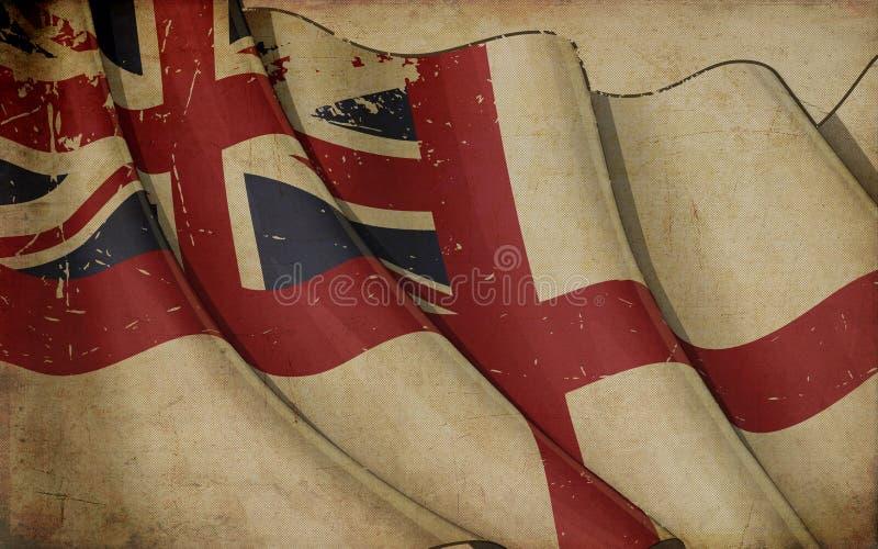 Предпосылка великобританского военноморского флага старая бумажная бесплатная иллюстрация