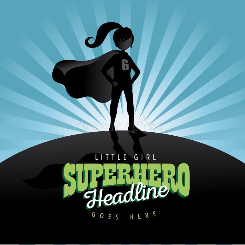 Предпосылка взрыва супергероя девушки иллюстрация вектора